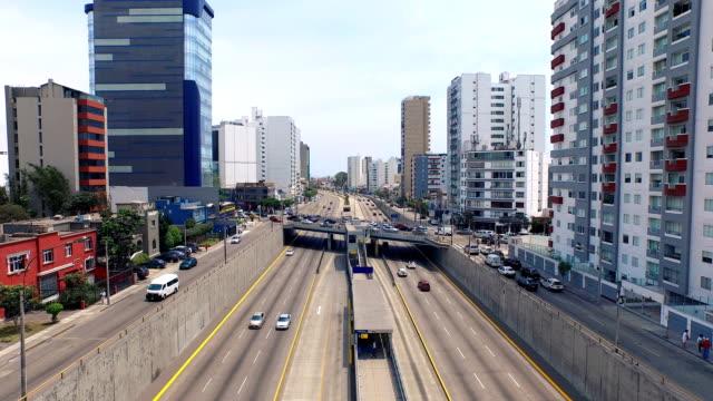 Lima Peru stadsgezicht freeway