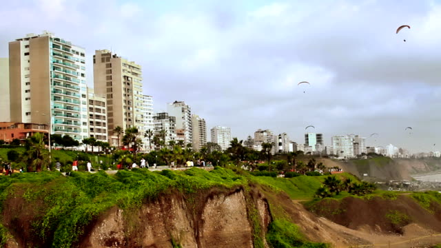 Lima Peru coast boardwalk