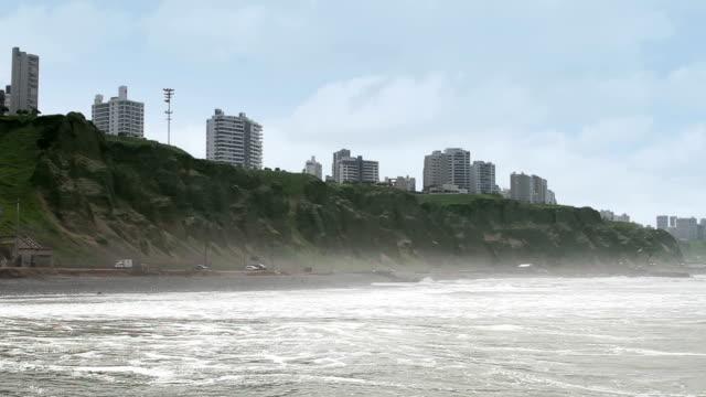 Lima Peru coastline skyline