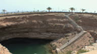 WS HA PAN Limestone crater next to Gulf of Oman, Sur, Oman
