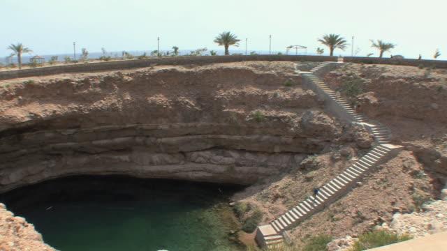 WS HA PAN Limestone crater next to Gulf of Oman, Sur, Oman