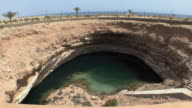 WS HA Limestone crater next to Gulf of Oman, Sur, Oman
