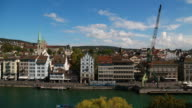 Limmat river in old town Zurich, Switzerland.