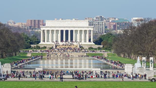 Lincoln Gedenkstätte in der Nationalen Einkaufszentrum. Washington DC