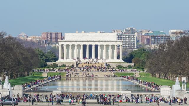 Lincoln Memorial al Nazionale Centro commerciale. Washington D.C.