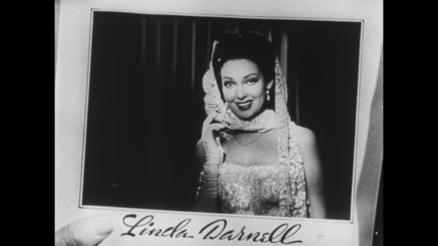 Linda Darnell speaks from the pages of PinUps magazine