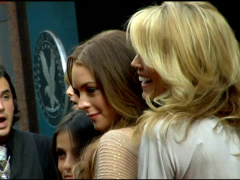 Lindsay and Dina Lohan at the 'A Prairie Home Companion' New York Premiere at the DGA Theater in New York New York on June 4 2006