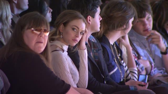 Lindsay Lohan and Charlotte Ronson Models at the MercedesBenz Fashion Week Fall 2009 Charlotte Ronson Runway at New York NY