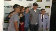 Lindy Booth Donald Faison Christopher MintzPlasse Nathan Fillion at Playboy And Universal Pictures' KickAss 2 Event At ComicCon Sponsored By AXE...