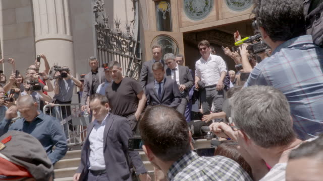 Lionel Messi seen leaving Spanish court on June 2 2016 in Barcelona Spain Leo Messi has been accused of tax evasion from 2007 to 2009 for hiding...