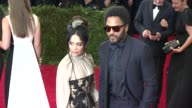 Lisa Bonet and Lenny Kravitz at 'China Through The Looking Glass' Costume Institute Benefit Gala Arrivals at Metropolitan Museum of Art on May 04...