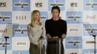 Lisa Kudrow and Zach Braff announcing the nominees for Best First Feature at the Independent Spirit Award nomination announcements at the Sofitel in...