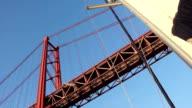 Lisboa Barco Tejo ponte 25 abril vela