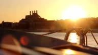 Lisboa Barco Tejo por do sol