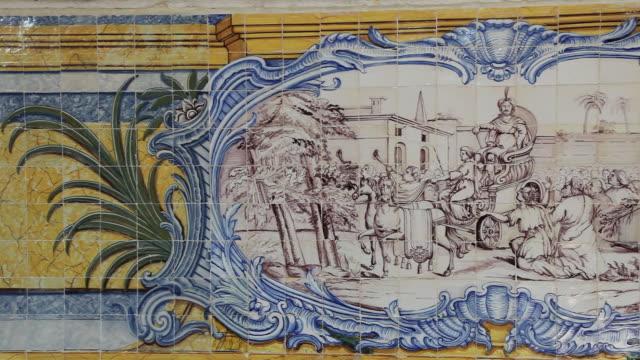 Lisbon, Jeronimos Monastery, Hieronymites Monastery (Mosteiro dos Jeronimos), refectory with azulejos tiles, Belem