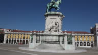 Lisbon, statue of King Dom Jose I, commerce square (Praca do Comercio)