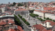 Lisbon, view of the Rossio square