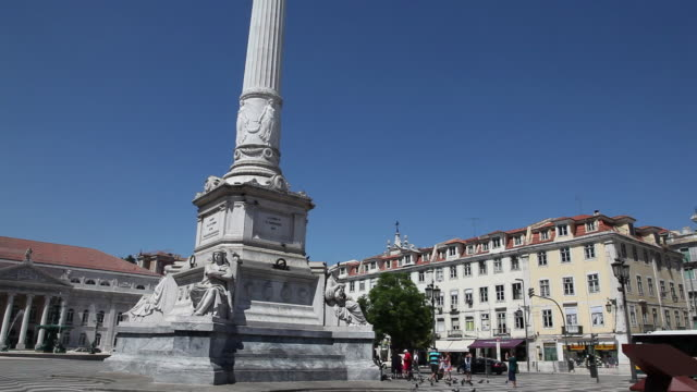Lisbon,statue of King Pedro IV in the Rossio square (Praca Dom Pedro IV)