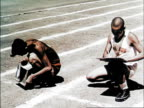 A Literary Race where the men must run between stations and write answers to questions / Women's 400 and 880 meter relay