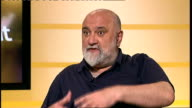 Alexei Sayle interview ENGLAND London GIR INT Alexei Sayle STUDIO interview SOT discusses his appearance at forthcoming Udderbelly Festival in...