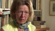 Biographer Claire Tomalin interview Claire Tomalin interview SOT On the suicide of her daughter Susanna Tomalin