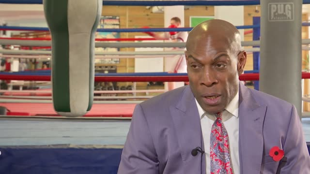 ARTS / Literature / Interview former boxer Frank Bruno on his new book 'Let Me Be Frank' Frank Bruno interview continued SOT / set up shots of Frank...