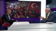 Orhan Pamuk interview ENGLAND London GIR INT Orhan Pamuk interview SOT re new novel authoritarianism in Turkey increase in nationalism and liberal...