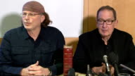 The Lost Gospel press conference and interviews ENGLAND London British Museum INT Simcha Jacobovici and Barrie Wilson press conference including...