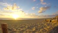 Lit-et-Mixe Beach, zonsondergang