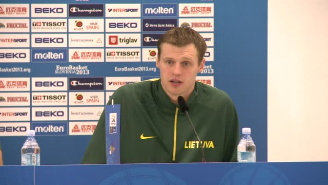 Lithuania book their spot in the quarterfinals of the 2013 European championships in Slovenia with victory against Italy CLEAN Lithuania beats Italy...