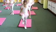 Little ballerina exercise (HD)