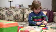 Little boy and playdough