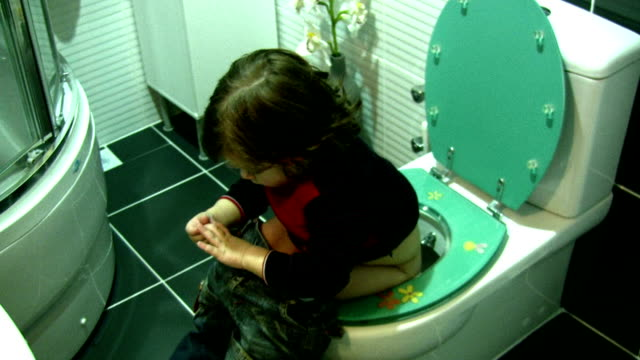 Little boy in the bathroom
