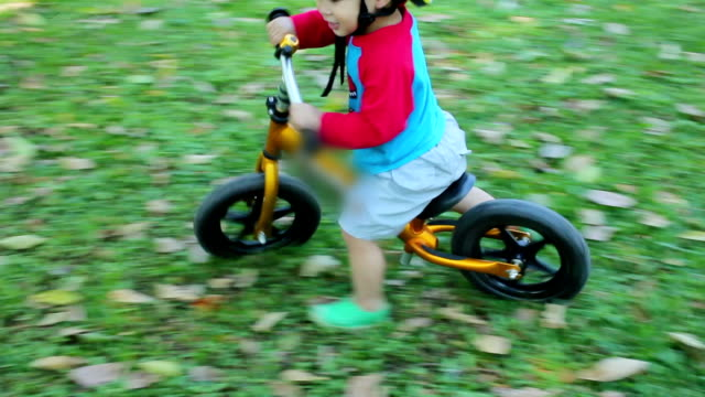 Little Boy Race with Balance Bike