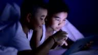 Little boy using tablet