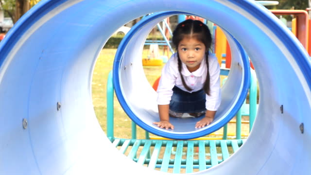 Little girl at the Playground Glidecam