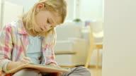 Little Girl Doing A Homework