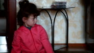 Little girl rapidly changing her emotions