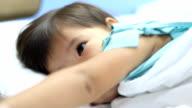 little girl sick in the hospital