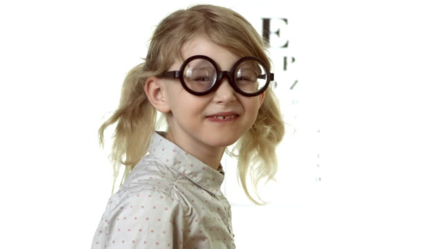 HD: Little Girl Wearing Funny Glasses
