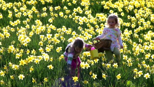 Little Girls at Easter