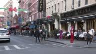 Little Italy, NYC - Mulberry Street Sidewalk Cafes (Christmas Season)