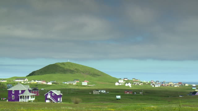 Little village surrounded by hills