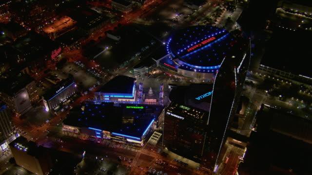 LA Live Area In Los Angeles At Night
