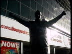 Anfield EXT 'The Kop' sign on stadium wall Statue