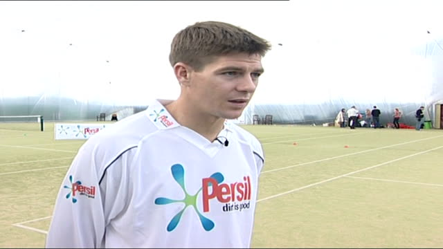 Liverpool captain Steven Gerrard interview at Persil event Steven Gerrard interview SOT On today's Persil event being great fun joining in with the...