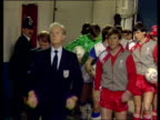 Liverpool player manager Kenny Dalglish and Everton manager Howard Kendall shake hands and lead teams up tunnel Everton vs Liverpool 1986 FA Cup...