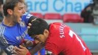 Liverpool striker Luis Suarez found himself in hot water again on Sunday when his bite on Chelsea defender Branislav Ivanovic sparked universal...