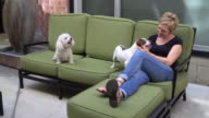 Living with Pets - Hanging out Enjoying the Dogs