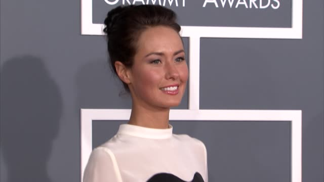 Liz Walaszczyk at The 55th Annual GRAMMY Awards Arrivals in Los Angeles CA on 2/10/13